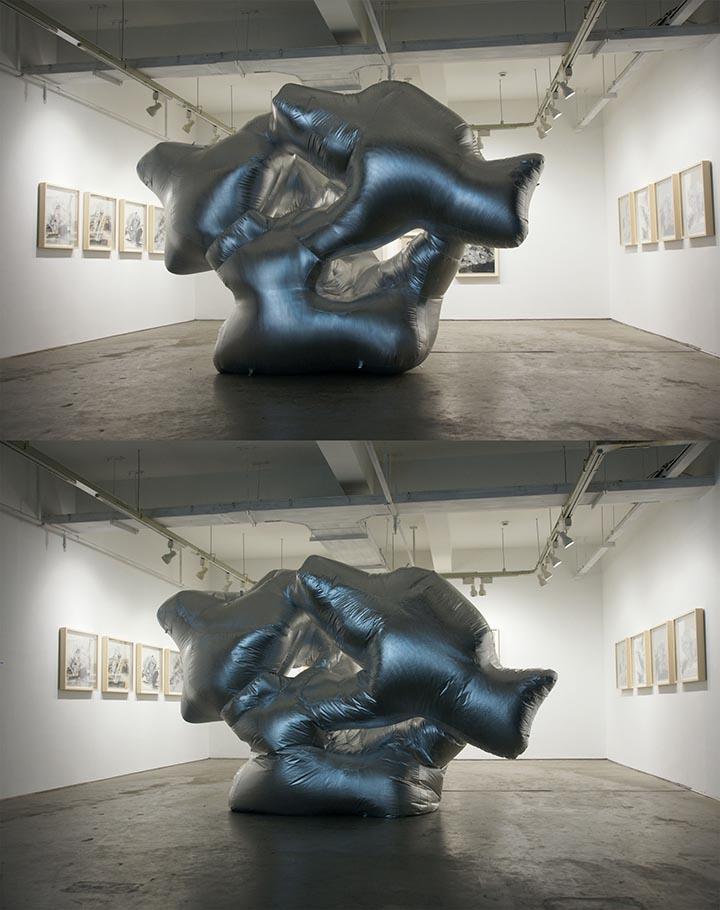 《疲软的审美》-2012年,-充气膜、风机、定时器-,杭州三尚当代艺术馆3